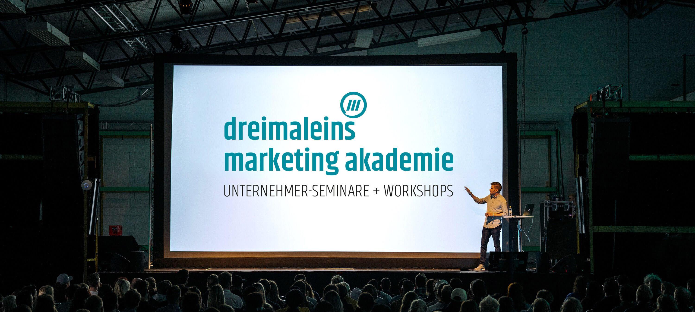 Mit unserer dreimaleins Marketing Akademie lernen Sie in regelmäßigen Events dazu.