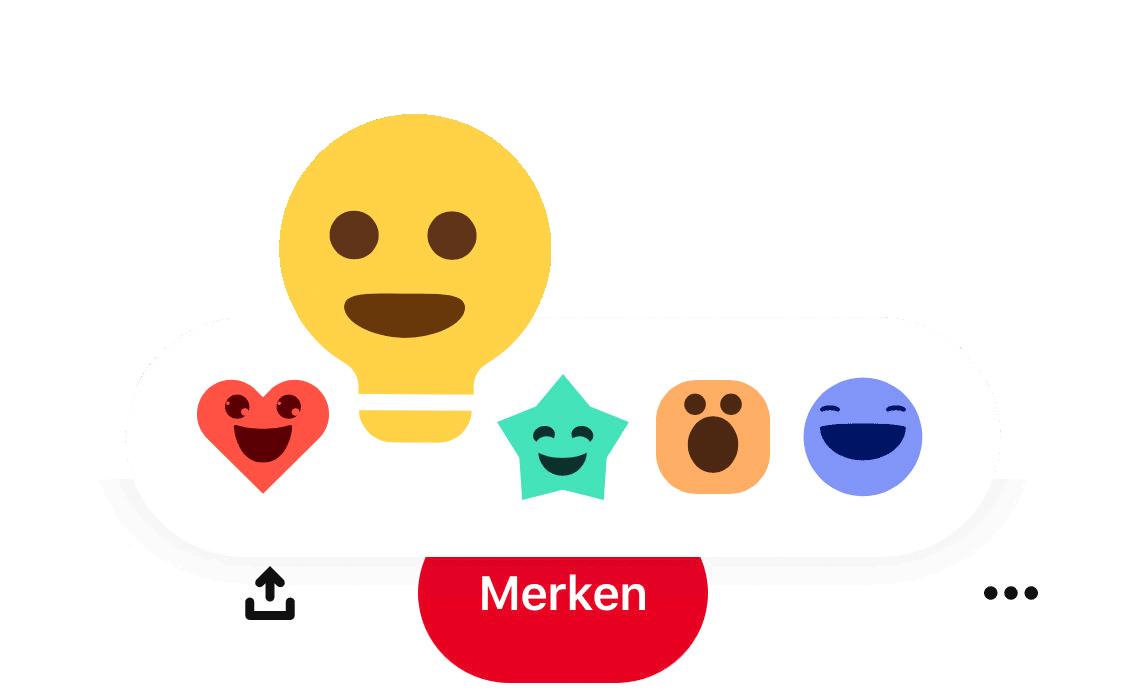 Bei Pinterest kann man jetzt zwischen verschiedenen Emotionen wählen