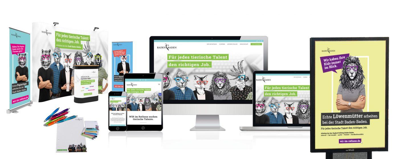 Stadt Baden-Baden - Referenzen zur Arbeitgeberkampagne